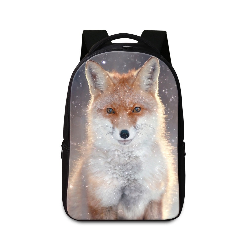 Large Animal Backpack for High Class Students Fox School Bags for Boys Laptop Back Pack for Teen Girls College Bookbags Mochilas блендер braun mq 325 mq 325 spaghetti