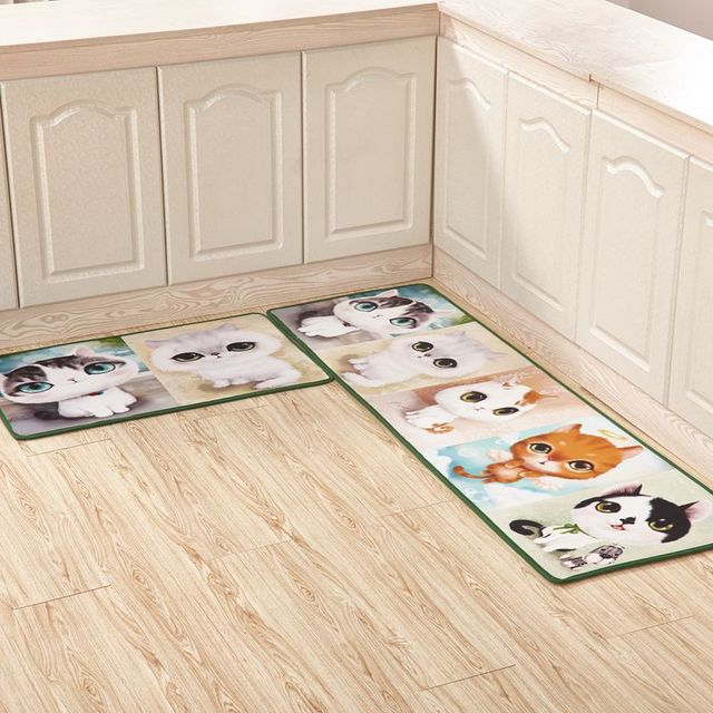 kitchen carpets commercial door aliexpress com buy 40 60 120cm set cartoon cat series mat home entrance doormat anti