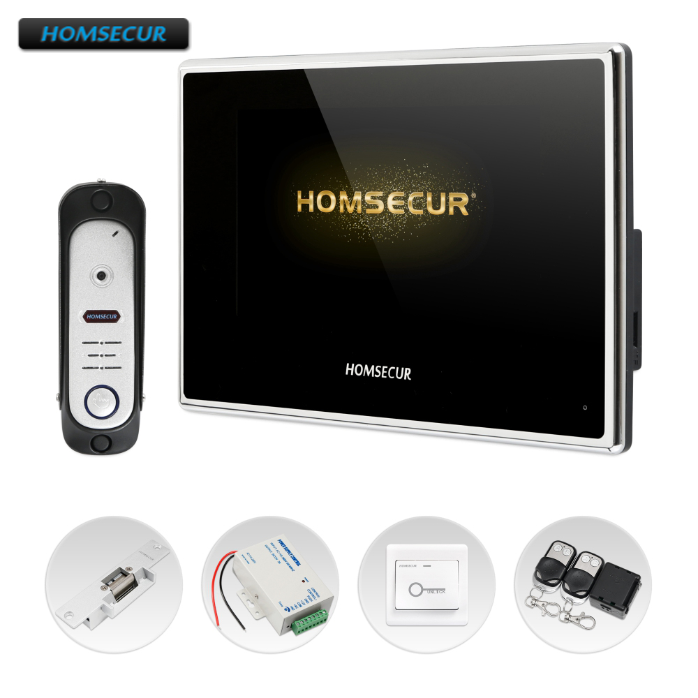 HOMSECUR 7 Video Door Phone Intercom System with Intra-monitor Audio Intercom BC051HD-S+BM718HD-BHOMSECUR 7 Video Door Phone Intercom System with Intra-monitor Audio Intercom BC051HD-S+BM718HD-B