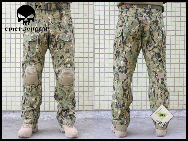 Emersongear G3 Combat Pants With Knee Pads Military BDU Army Airsoft Emerson Gear Paintball Hunting Trousers EM7049 AOR2
