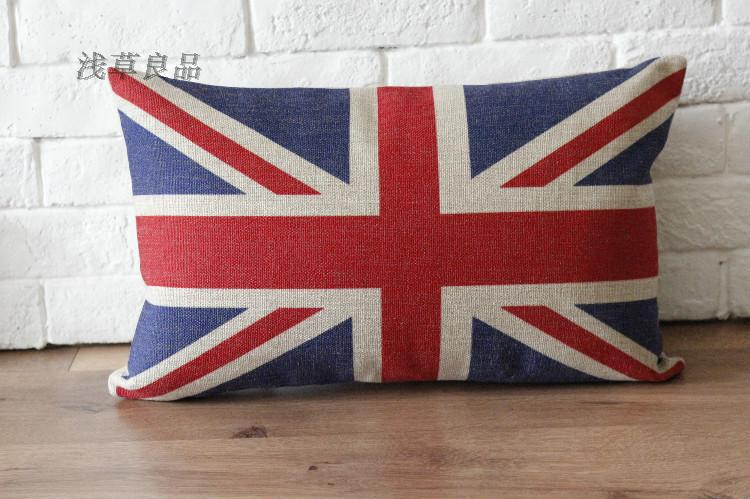 linen England Flag red Pillow cover, the Union Jack cushion cover, home decorative pillow cover