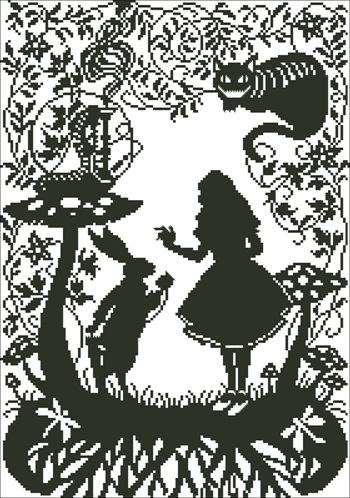Alice In Wonderland Cross Stitch Package Bothy Thread