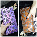 Designer 3C Hologram metallic color leatherette Women Purse Wallet Fashion Clutch wristlet