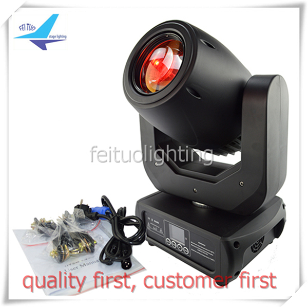 free shipping New Led 150w Spot Moving Head light 3 Prism Color Gobos DMX Sound Active Automic Stage Party DJ Wedding Lighting