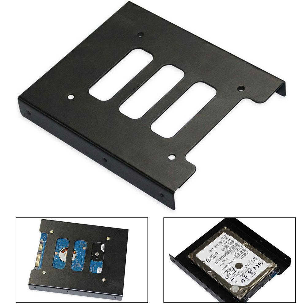 Metal 2.5 Inch To 3.5 Inch Hard Drive Bracket SSD Solid State Disk Caddy Tray