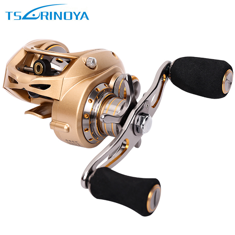 Trulinoya Full Metal Body High Speed 7.0:1 Double Brake Baitcasting Fishing Reel 9BB +1RB Bait Casting Reel Max Drag 7KG stealth 3bb 1rb plastic body bait casting carp fishing reel high speed baitcasting pesca 6 2 1 lure reel