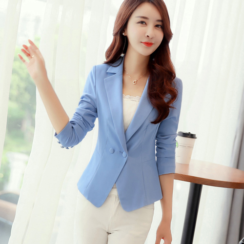 Fashion Candy Color Wave Lady Blazers and Jackets