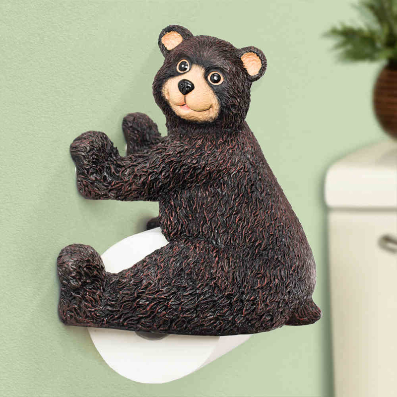 Cute Winnie/bear Shape Roll Paper Towel Holder Wall Mounted Creative Bathroom Lavatory Paper Tissue Holder  the paper carton wall plastic roll plastic creative paper towel box paper market box carton