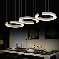 3 Heads Dining Room Table Offhead Pendant Light Personality C Type Kitchen Restaurant Led Pendant Lamp