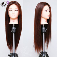 100% Synthetic Fiber Hair Mannequin Head Hairdressing Training Heads Manikin Doll Head Cosmetology Mannequins For Wig Hairstyles