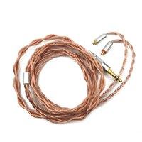 Linsoul обновления кабель наушников 4 Core сбалансированный кабель сплава с чистого Медь 2,5/3,5/4,4 мм с MMCX /2Pin разъем