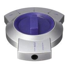 CAA Vente Chaude 3-Way Audio Numérique Câble De Fiber Optique Toslink Sélecteur Splitter HDTV Argent + Violet