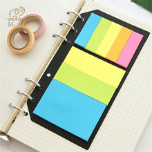 цена на B5 A5 A6 Sticky Notes Planner Schedule 6 Holes Binder Dairy Memo Divider Sticker for Loose Leaf Binder Bookmark Spiral Notepads