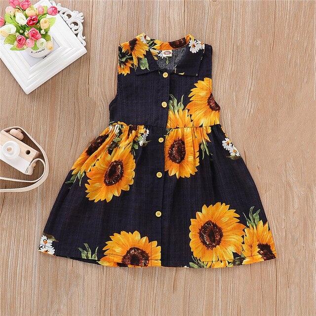 Sunflower Print Dress Baby...