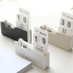 Винтажный стиль PP вечный календарь DIY календарь художественные поделки для дома офиса школы украшение стола подарки