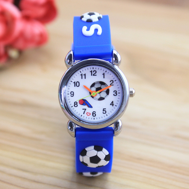 2018 New style boys children cool 3D football Design sports Series Watch Cartoon