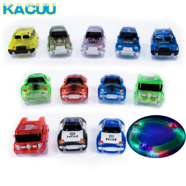 New 12 styles racing car for magical tracks with led light baby toy new 12 styles racing car for magical tracks with led light baby toy fire truck police mozeypictures Image collections