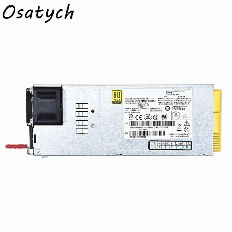 Для Lenovo RD630 RD530 RD430 сервер источник питания 800 Вт DPS800RB A 03X3822