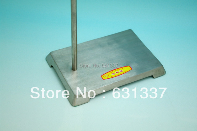 Lab Stainless Retort Support Stand Base 210x200mm, Rod 10x650mm-Each