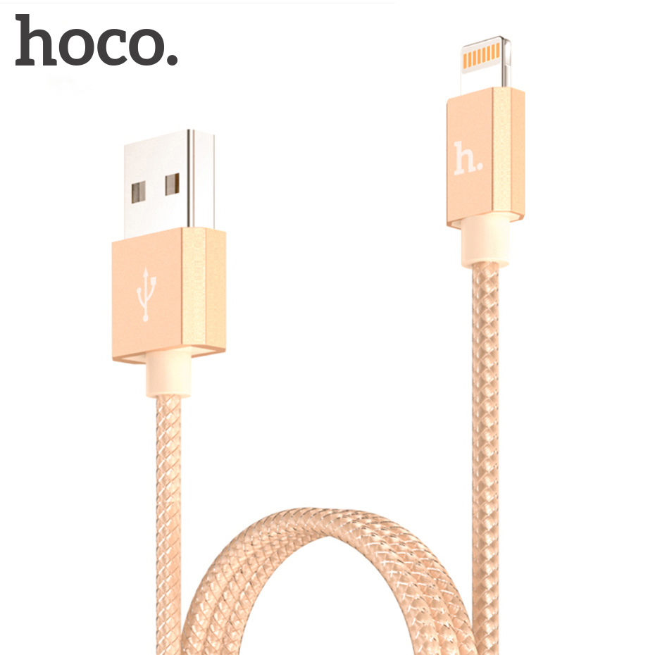 hoco original metal mfi charging usb cable for apple iphone ipad