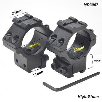 AloneFire 30mm Halka Taktik Lazer Sight Fener Tüfek Kapsam Dağı Için Ayarlanabilir Yükseklik Windage 11mm Raylı Sistem MD3007