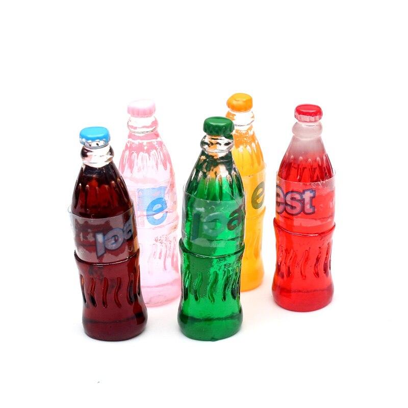 20pcs Mixed Soda Bottle Model Resin Decoration Crafts Flatback Cabochon Embellishments For Scrapbooking Beads Diy Accessories