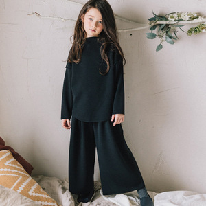 Image 4 - fleece cotton teenage girls clothing sets kids 2018 autumn winter clothes suits girl 2 pcs loose hoodies & wide leg pants suits