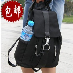 2013 backpack female oxford fabric backpack casual canvas leather preppy style travel bag