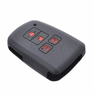 Image 4 - For Toyota Sienta Alphard Voxy Noah Esquire Harrier Silicone Remote Key Case Fob Shell Cover Skin 4 Button 2015   2018 2019