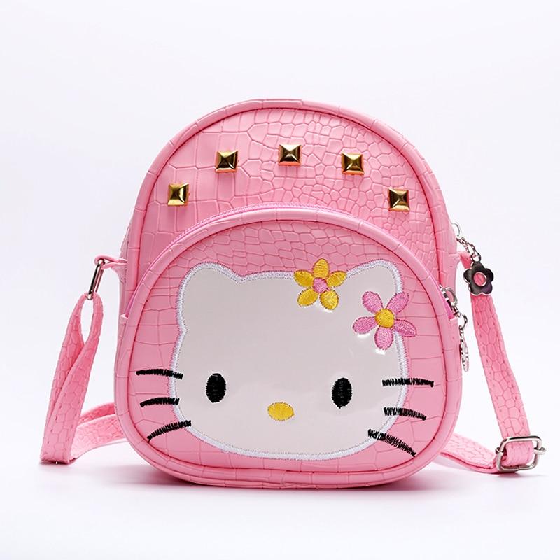 Detail Feedback Questions about Baby girls hello Kitty pink 2018 handBags  Kids cat bag crocodile Rivet kids girl Handbags PU Kids Crossbody Messenger  Bags ... 4cce664512ed6