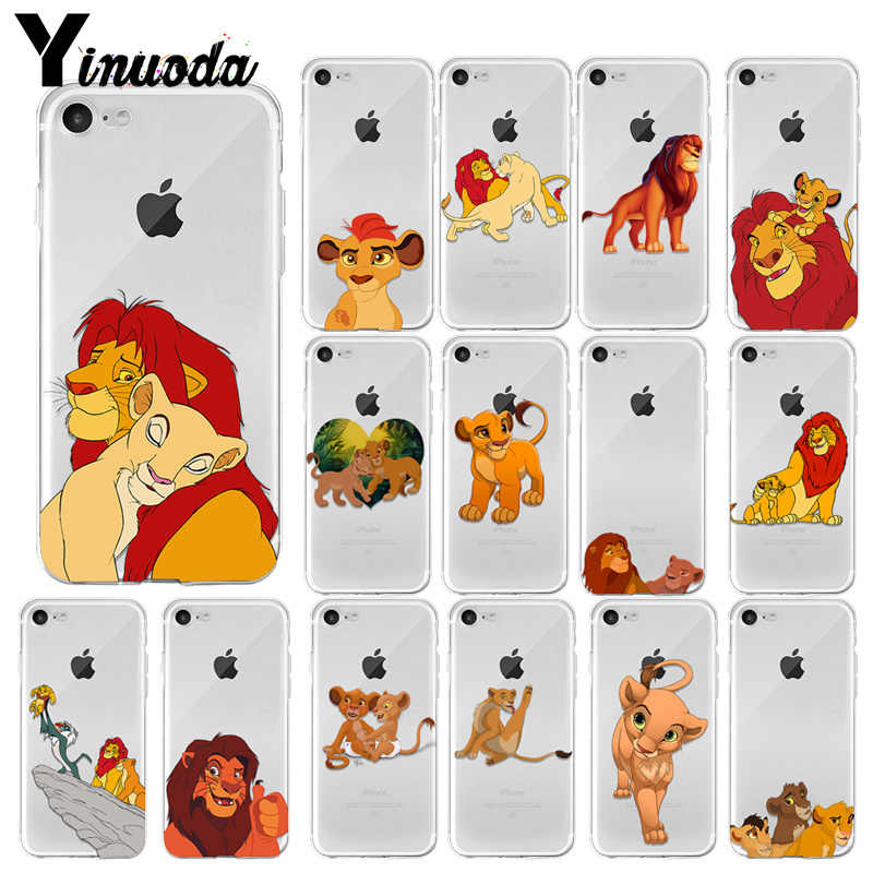 Yinuoda The Lion King Best Coque TPU Soft Silicone Transparent Phone Case for Apple iPhone 8 7 6 6S Plus X XS MAX 5 5S SE XR