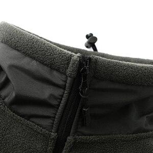 Image 4 - Mege 브랜드 의류 코트 남성 Thicken Warm Military Army 양털 재킷 패치 워크 멀티 포켓 Polartec Mens Jacket and Coats