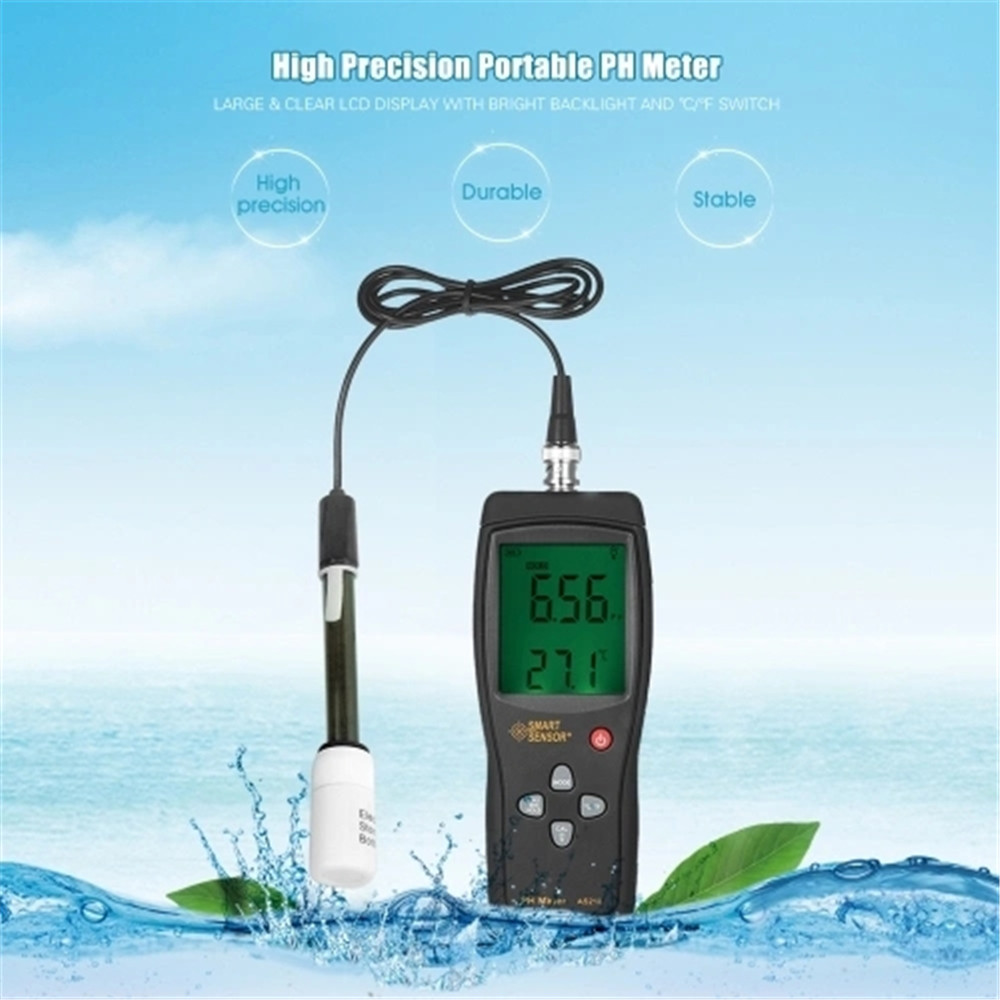 Digital PH Meter Water Soil PH Acidity Tester Moisture Measuring Instrument Measuring Range 0.00~14.00pH 1 15ph pocket waterproof digital ph tester measuring semisolid substance with temperature measurement carrying case