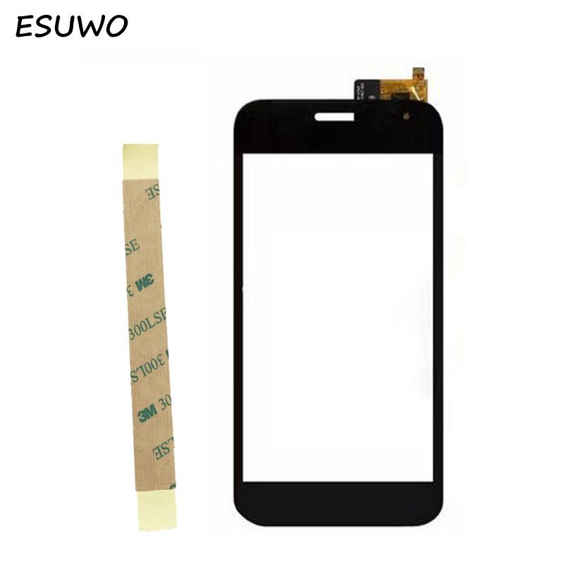 ESUWO New Touch Panel Replacement For Explay X5 Touch Screen Digitizer Front Glass Lens Black Color