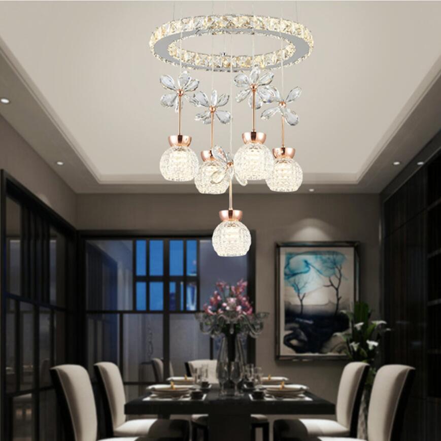 US $67.98 20% OFF|Neue edelstahl led Kronleuchter led lampen high power led  beleuchtung Kronleuchter wohnzimmer led glanz licht droplight/anhänger-in  ...