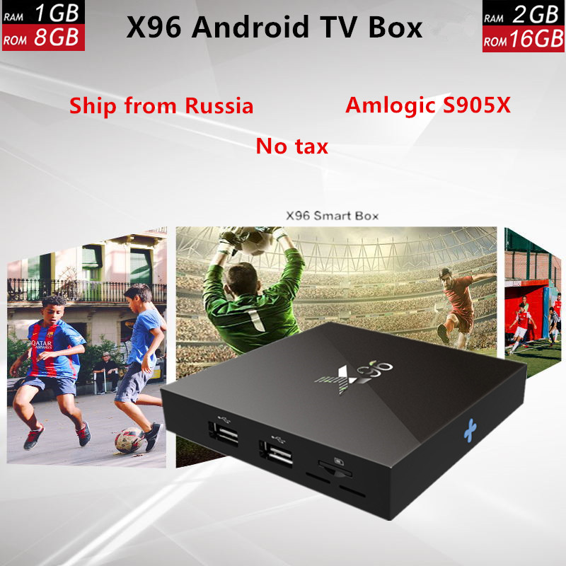 X96 Android TV Box 7.1 Amlogic S905X 2GB RAM 16GB ROM Quad Core WIFI HDMI 4K support H.265 Smart TV Media Player Set Top BOX eu us plug cs918s andriod 4 4 smart tv box quad core 2gb ram 16gb rom built in bluetooth 3g wifi android tv box newest in 2017