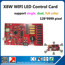 kaler X8W wifi led sign controller card support 128×9999 pixel infinite width wifi and usb led display board control card