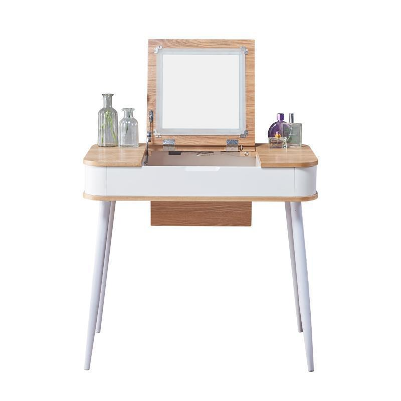 Nordic vanity dresser bedroom small apartment simple folding mini economical multi-functional make-up table cut the nordic modern minimalist dresser bedroom flip multi functional dressing small apartment mini make up table