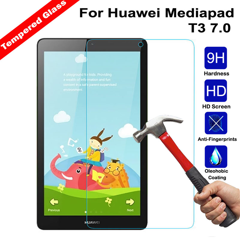XSKEMP 0.3mm LCD Tablet Anti-Shatter Tempered Glass For Huawei Mediapad T3 7.0 Inch 9H Hardness Screen Protector Protective FilmXSKEMP 0.3mm LCD Tablet Anti-Shatter Tempered Glass For Huawei Mediapad T3 7.0 Inch 9H Hardness Screen Protector Protective Film