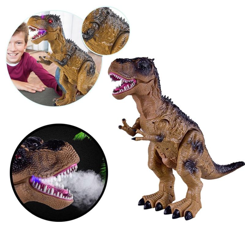 Control remoto caminar dinosaurio juguete fuego respiración agua Spray regalo de navidad niños juguete de alta calidad QA - 2