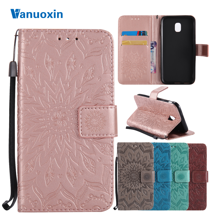 Vanuoxin Phone Cases For coque Samsung Galaxy J3 2017 case For Samsung J3 2017 J330 case cover 3D Wallet Flip Cover Leather Case(China)