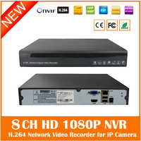 Full HD 1080P NVR 9CH 2 SATA HDD Ports ONVIF P2P Motion Detection HDMI VGA CCTV