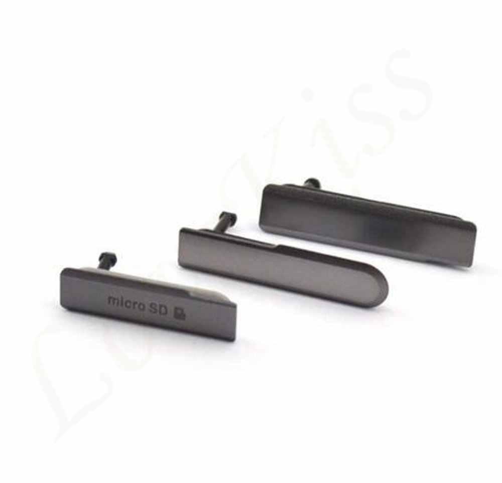 Z1mini Micro SD Thẻ SIM Cổng Sạc USB Khe Cắm Chống Bụi Dành Cho Sony Xperia Z1 Mini Nhỏ Gọn M51W D5503 Bụi cắm Ốp Lưng Ốp Lưng