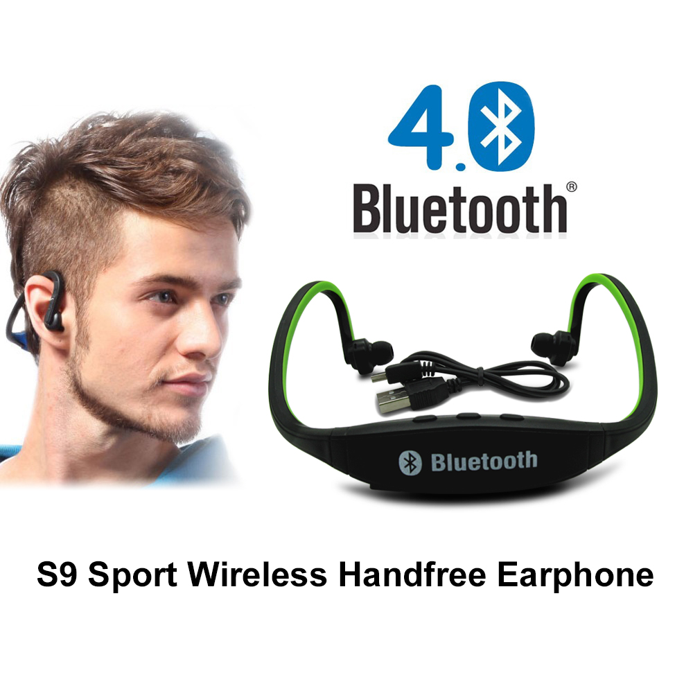 Original S9 bluetooth Headphones Sport Wireless Bluetooth 4.0 Earphone Fashionable Headset With TF Card Slot For iPhone Xiaomi headphones blutooth 4 1 wireless foldable sport earphone microphone headset with tf card slot mp3 player music earphone earpiece