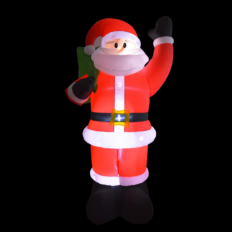 2.4M Giant Inflatable Snowman Blow Up Toy Santa Claus Christmas Decoration For Hotels Supper Market Entertainment Venues Holiday купить в Москве 2019
