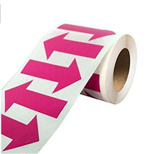 Arrow Stickers Fluorescent pink Arrow Shape Color Coding Inventory Labels 500/roll 2 Inch X 1.25 Inch self-adhesive label december fluorescent paper labels 500 labels roll 3 x 2