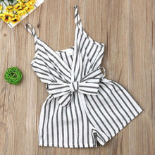 Kids Baby Striped Romper Outfit Jumpsuit