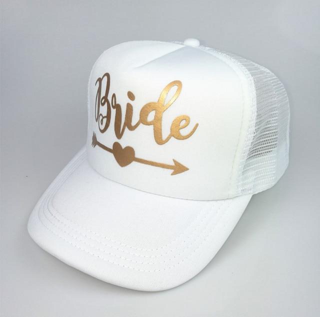 CFung Bride Tribe Snapback Hat Bride To Be Golden Arrow Hats Wedding Beach Bachelorette Party Favors Trucker Hat Cap