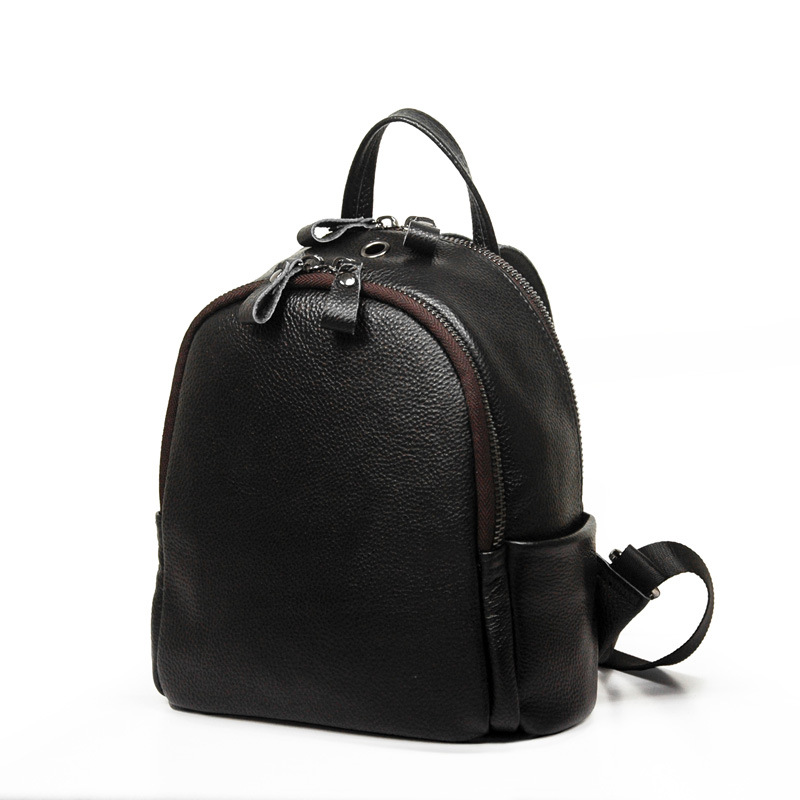 Luxury Mini Women Leather Bagpack Cowhide Rucksack Korea Style Women Backpack for School Bag Mochila Feminina 23cm brand vintage women bagpack beetle shape cool split leather backpack teenager school bag knapsack cowhide mochila feminina