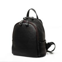 Роскошные Мини женские кожаные Bagpack кожа рюкзак в Корейском стиле женщины рюкзак для школы сумка Mochila Feminina 23 см